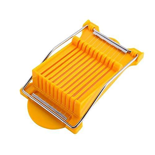 Hot Lunch en acier inoxydable viande Slicer coupe Les conserves de viande fromage à pâte molle Slicer Boiled Egg Fruit Food Kitchen Gadget Outil de coupe (Couleur : Yellow)