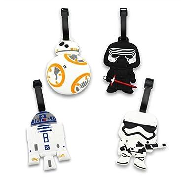 Finex Set of 4 Star Wars BB-8 Travel Luggage ID Tag Bag Suitcase BB8