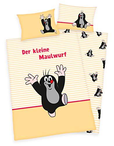 Klaus Herding GmbH Der kleine Maulwurf Bettwäsche 40x60 + 100x135cm 100{e0504dfce1ce05a86ce485d93031db674c54131510a319c59d28cacea90bc3c5} Baumwolle