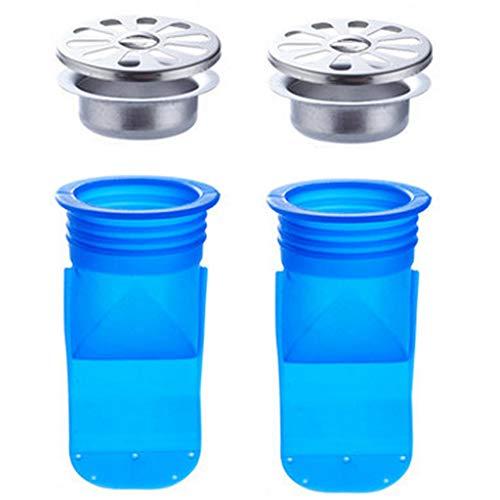 Katpost Prévention de reflux réglable, Paquet de 2 Drain de plancher de silicone, Valve à simple voie pour tuyaux Tubes dans le sol de la salle de bai