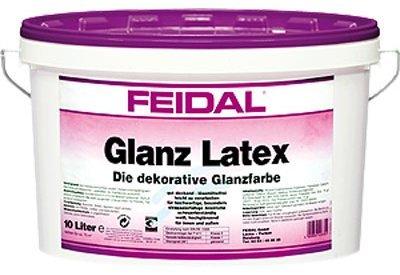 Feidal Glanz Latex 5 L/weiß/glänzende Latexfarbe für Neu- und Renovierungsanstriche
