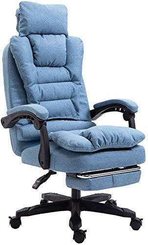 Office managerstoel computer stoel met voetsteunen en hoofdkussen - Ergonomische zwenker video game chairs - 90 graden; -155deg; liggende - (6 kleuren verkrijgbaar) (kleur: roze)