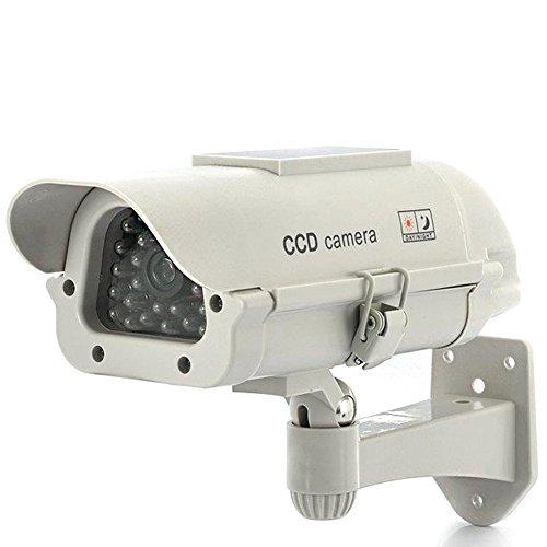 FISHTEC ® Camera CCTV Factice d'extérieur - Solaire
