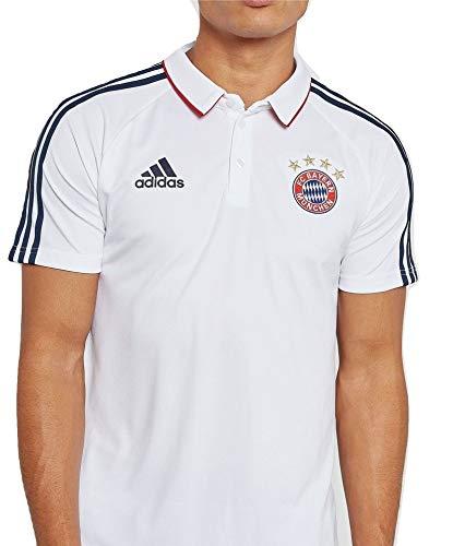 adidas Herren FC Bayern München Poloshirt, White/Conavy, XS