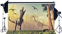 HD恐竜の背景10X7FTビニールジュラ紀時代の背景ネイチャーワンダーランド恐竜写真の背景男の子の誕生日デザートテーブルの壁紙キッズルーム紙写真スタジオ小道具KX960