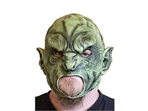 Zoelibat Ork Maske grüner Orc Latexmaske Halloween