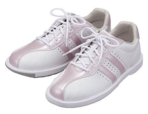 (ABS) ボウリングシューズ S-380 ホワイト・ピンク 24.5cm 右投げ 【ボウリング用品 靴】