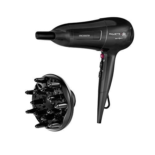 Rowenta Powerline CV5912 Secador de pelo con tecnología Ionic Booster, ahorro de energía, golpe de aire frío, secador de pelo iónico, 6 ajustes de velocidad/temperatura, protección térmica