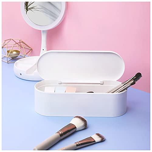 QQYYY Organizador De Maquillaje Soporte para Brochas De Maquillaje, Caja De Almacenamiento De Cosméticos con Tapa, Caja De Almacenamiento De Cosméticos para Maquillaje, Brochas De Maquillaje,A