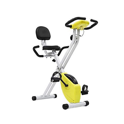 El ejercicio plegable de la bici con la ayuda trasera, ultra silencioso ajustable entrenamiento magnética de bicicletas for uso en el hogar, plegable vertical cubierta ciclo de la bici con el monitor