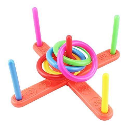 Fyeep Androni Giocattoli - Ringwurfspiel mit 5 Ringen, ca. 40 cm, Ringwurfspiel Outdoor Kinderspiele Draußen Spiele für Kinder und Erwachsene ab 3 Jahren Spielzeug Kit