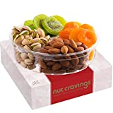 Dried Fruit & Nut Gift Basket Assortment, Red Box Meduim (4 Mix) - Variety Care Package, B...