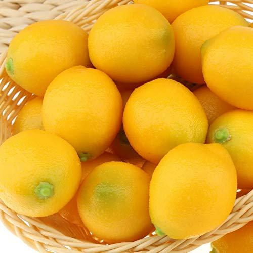 Gresorth 20 PCS Mini Fake Yellow Lemon Artificial Fruit Home Party Decoration Silk Flower Arrangements