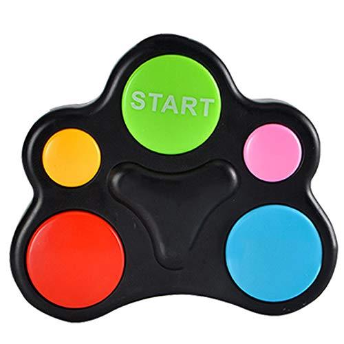 Consola de juegos de mano, Consola de juegos de memoria LED de luz flash de sonido de los niños rompecabezas educativo interactivo juguete de mano cerebro de la máquina de coordinación