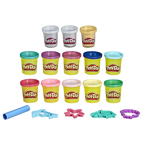 Play-Doh Bulk Mermaid Colors 13-Pack of Non-Toxic Modeling Compound with Sparkle and Metallic Colors Plus 5 Tools (Amazon Exclusive)