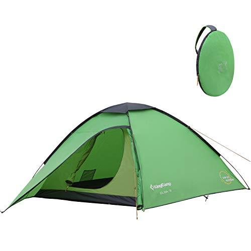 KingCamp ELBA Campingzelt Pop-up Kuppelzelt Wurfzelt mit Vorraum für 3 Personen leicht 3000mm wasserdicht