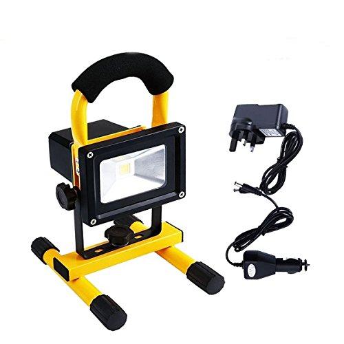 Emergency Spotlight, EONANT Lumière Dd'inondation Rechargeable de 10W LED avec la Lampe à Main Portative de 360 ° Imperméable pour L'éclairage Extérieur de Camping