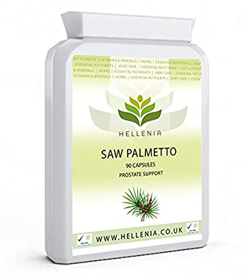 Hellenia Saw Palmetto Extract 50 mg High Strength - 90 Capsules - Prostate Support For Men