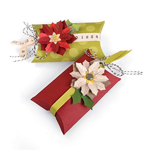 Sizzix Bigz PRO Fustella, Box Pillow & Poinsettias, Carbon Steel