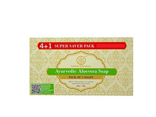 Ayurvedic Aloevera Soaps Combo (5 X 125g) By Khadi Natural
