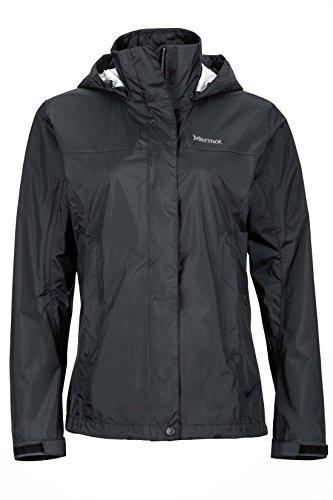 Marmot Women's PreCip Lightweight Waterproof Rain Jacket , Black, Large