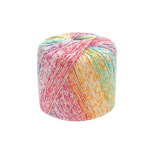 Artibetter 1 Rollo de Hilo de Algodn Segmento de Color Teido Degradado Diy Hilo Bufanda Sombrero Chal Material de Lnea para Tejer a Mano Crochet Mini Proyecto Disfraz (Colorido)