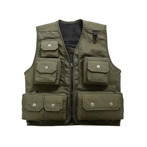 Vest THBEIBEI Mens Waistcoat Buitenjas Met Haak Up Multi-pocketed Tactical Verwijderbare Terug Gilet Ademend Voor Fotografie Vissen