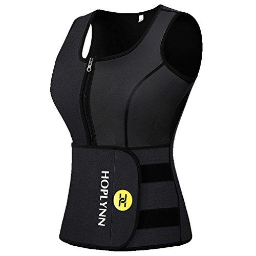 HOPLYNN Sweat Vest for Women, Waist Trainer Vest for Weight Loss Women Black 4XL