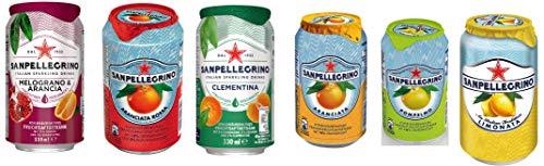 24 Dosen a 0,33l San Pellegrino 6 Sorten Mix inkl. 6€ EINWEG Pfand Granatapfel & Arancia, Aranciata Rossa, Clementina, Aranciata, Pompelmo, Limonata Sanpellegrino