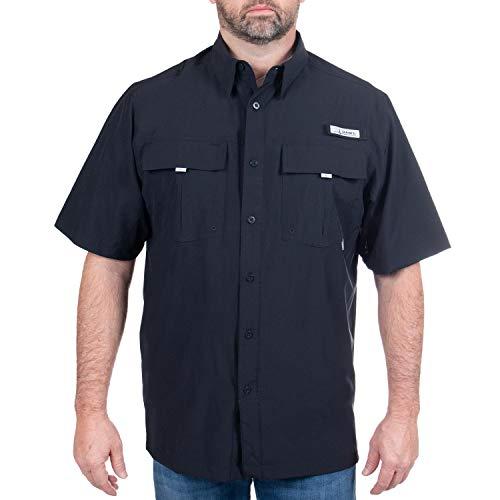 HABIT - Men's Forage River Short Sleeve River Guide Fishing Shirt,...