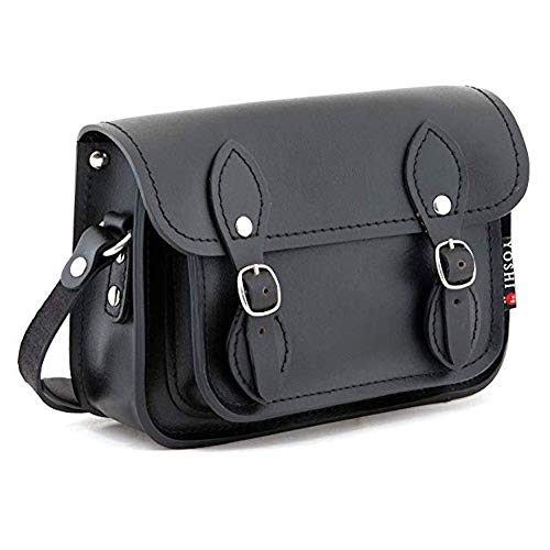 Yoshi Tilney Black Leather Cross Body Mini Satchel Bag