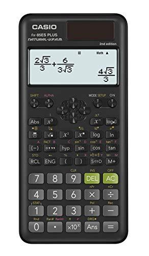 Casio FX-85ES PLUS-2 Wissenschaftlicher Taschenrechner, 252 Funktionen, 11 x 77 x 162 mm, schwarz