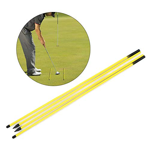 Worii Palo de práctica de Golf, Palo de práctica Correcta, Palo de práctica Correcto Palo indicador de dirección Amarillo Plegable, Asistente de Entrenamiento de Palo para golfistas