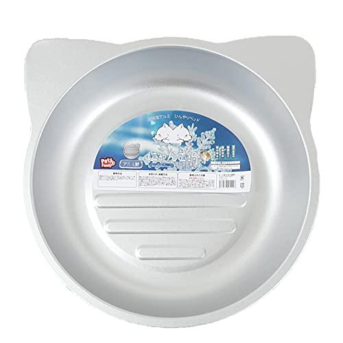 (Pets Family)ペッツファミリー 猫鍋 ジャンボ アルミ ねこなべ Lサイズ ペットベッド クール ねこなべ 猫顔 猫 暑さ対策 夏用 冷感ベッド 超ひんやり