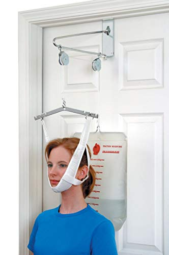 DMI Over the Door Posture Corrector and Cervical Neck Traction Device for Physical Therapy, Neck Stretcher, Back Stretcher, Neck Pain, Migraine Relief, Back Pain or Arthritis, 2-20 Lb Graduated Scale