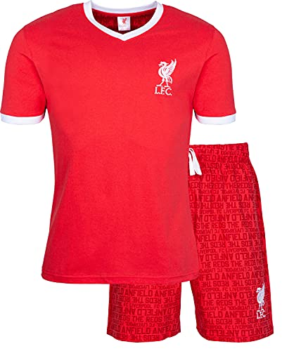 Liverpool F.C. Mens Pyjamas Cotton Pjs Official Football Gifts For Men (M) Red