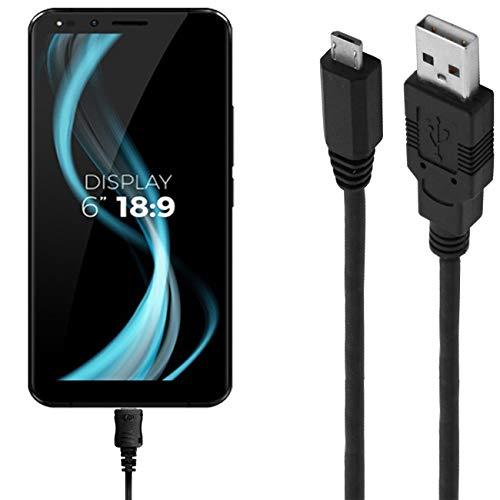 ASSMANN Ladekabel/Datenkabel kompatibel für Allview X4 Soul Infinity Z - schwarz - 1m