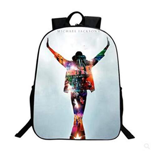 LIUHUIJUN Print Star Jackson Kinder Casual Rugzak Grote High School Student Bag Schoudertas 40 * 30 * 13CM Gewicht 320g