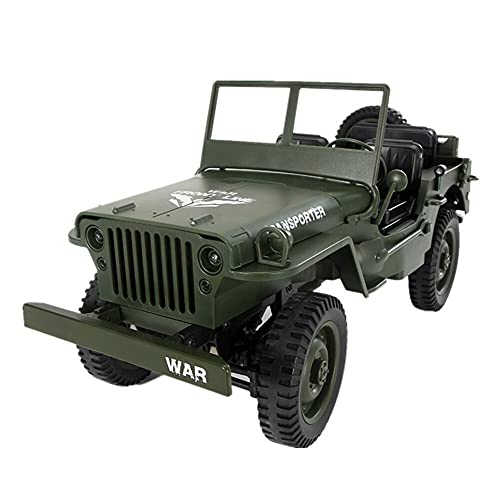 UimimiU Control Remoto Coche 1:10 Convertible RC Car 2.4GHz 4WD Off-Road Stimbation Coche RC Cars RC Trucks Militar Truck Drive Off-Road RC Cars Remote Control Trucks Boy Child Racing