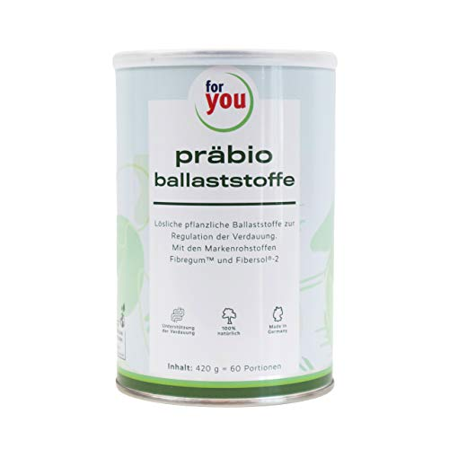 for you präbio ballaststoffe Pulver hochdosiert mit pflanzlichen Ballaststoffen aus Akazienfaser und resistentes Dextrin I Nahrungsergänzung Darm 100% natürlich I 420g Getränkepulver