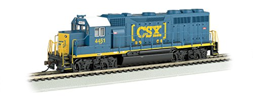 Bachmann   Med Gp-40 Locomotive With Operating Headlight - SC #4451 - Ham N Scale Diesel Locomotive, Prototypical Blue