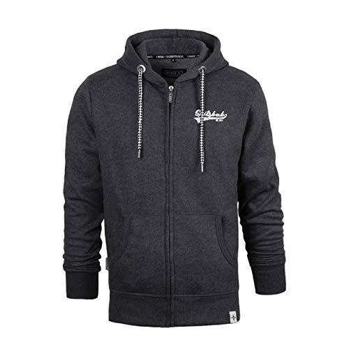 Spitzbub Herren Hoodie Pullover mit Kapuze Sweatjacke Zipper Kapuzenpullover mit Reißverschluss Uwe