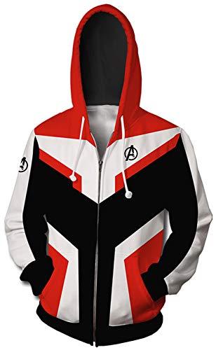 HUASON Uomo Felpe con Cappuccio Avengers Endgame Superhero Quantum Realm Battle Jacket(XS)