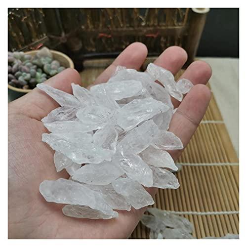 YSJJDRT Cristal Natural Rugoso Diente Natural Cristal Blanco Original Piedra Grava Calidad Blanco Cristal Cristal decoración casera Piedra áspera Piedra no es (Color : 1 3cm 100g)