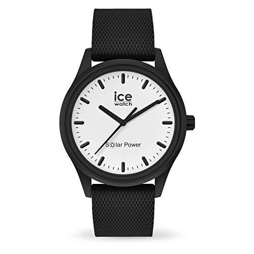 ICE-WATCH ICE Solar Power Moon Mesh - Reloj Negro para Hombre con Correa de Silicona, 018391 (Medium)