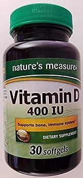 Nature s Measure Vitamin D 400 IU 30 softgels