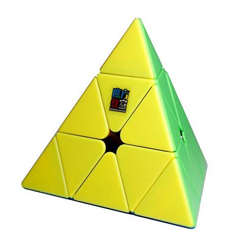 OJIN MoYu MoFang JiaoShi Meilong Pyraminx Cube Cubing Classroom Pyraminx Cube 3x3 Pyramid Triangle Cuatro Ejes Tetrahedron Puzzle Cube(Sin Etiqueta)