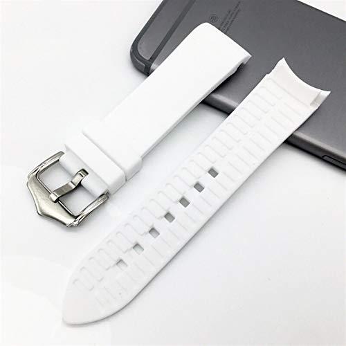 BJKKM Simplicidad con Estilo 18 mm 20 mm 22 mm 24 mm Strap de Silicona Suave Universal Codo Curvado Curvado de Goma Deportes Impermeable Reemplazo Pulsera Reloj Accesorios Accesorios de Reloj