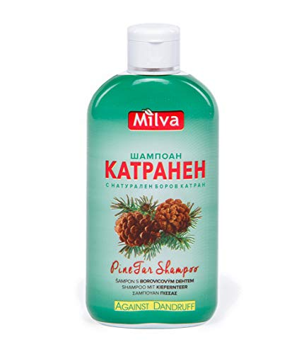 Pine-Tar Shampoo - Stops Dandruff, Helps Clear Seborrhea, Soothes & Heals Inflammed Scalp -200ml by Milva