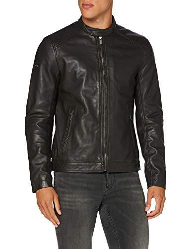 Superdry Light Leather Racer Chaqueta, Marrón (Dark Brown 04o), XXL para Hombre